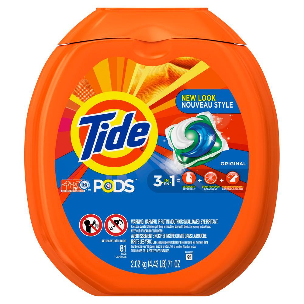 Tide Original Scent Laundry Detergent Pods 2 Pack 81 Count
