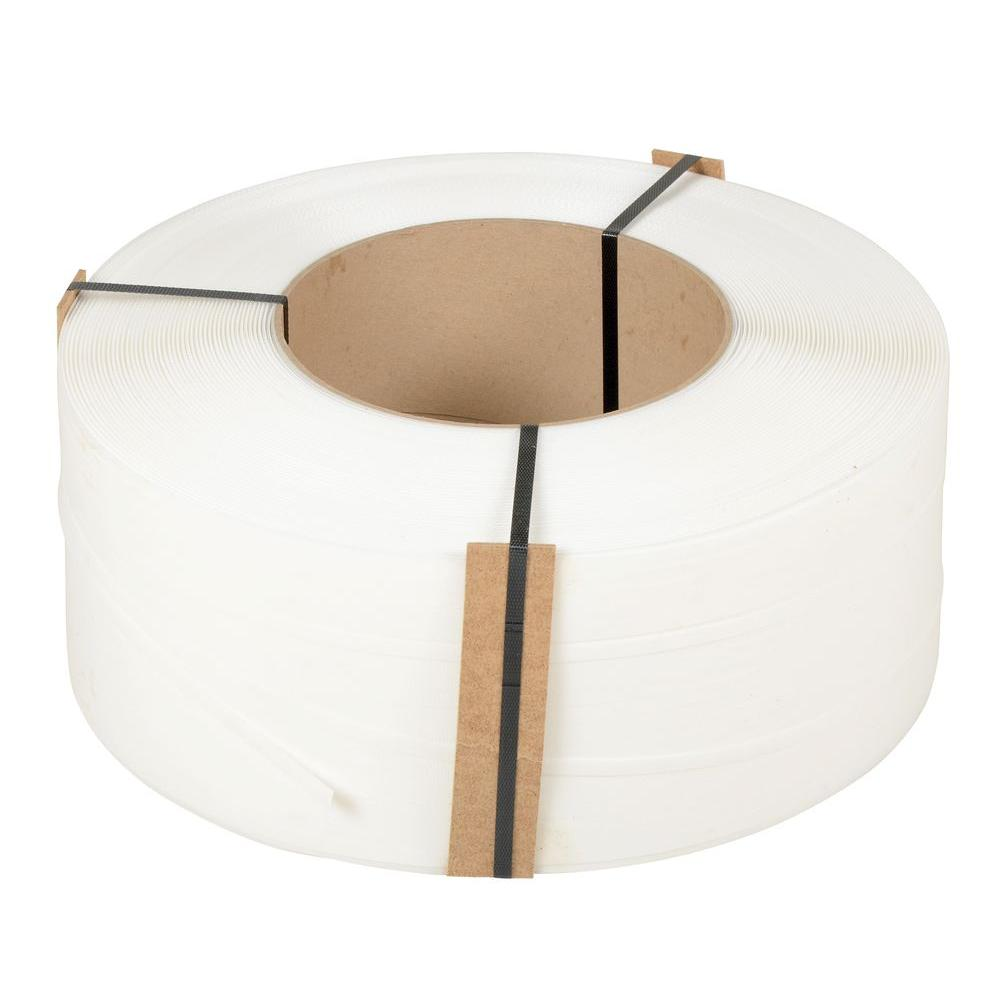 12,900 ft. Roll 9 in. x 8 in. Core White Poly