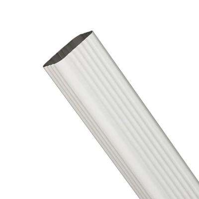 15 in. x 3 in. x 4 in. Vinyl White Downspout Extension