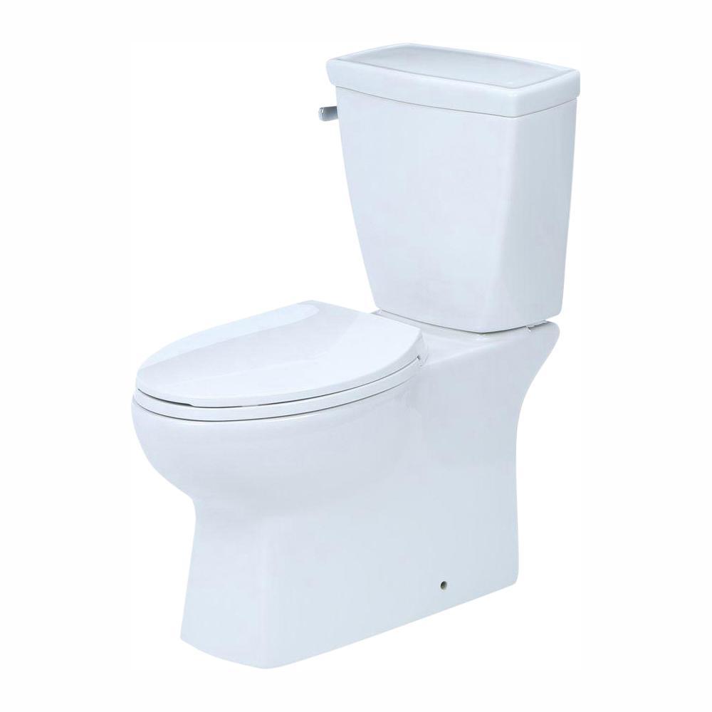 Delta Riosa 2-piece 1.28 GPF Single Flush Elongated Toilet in White with Hardlines