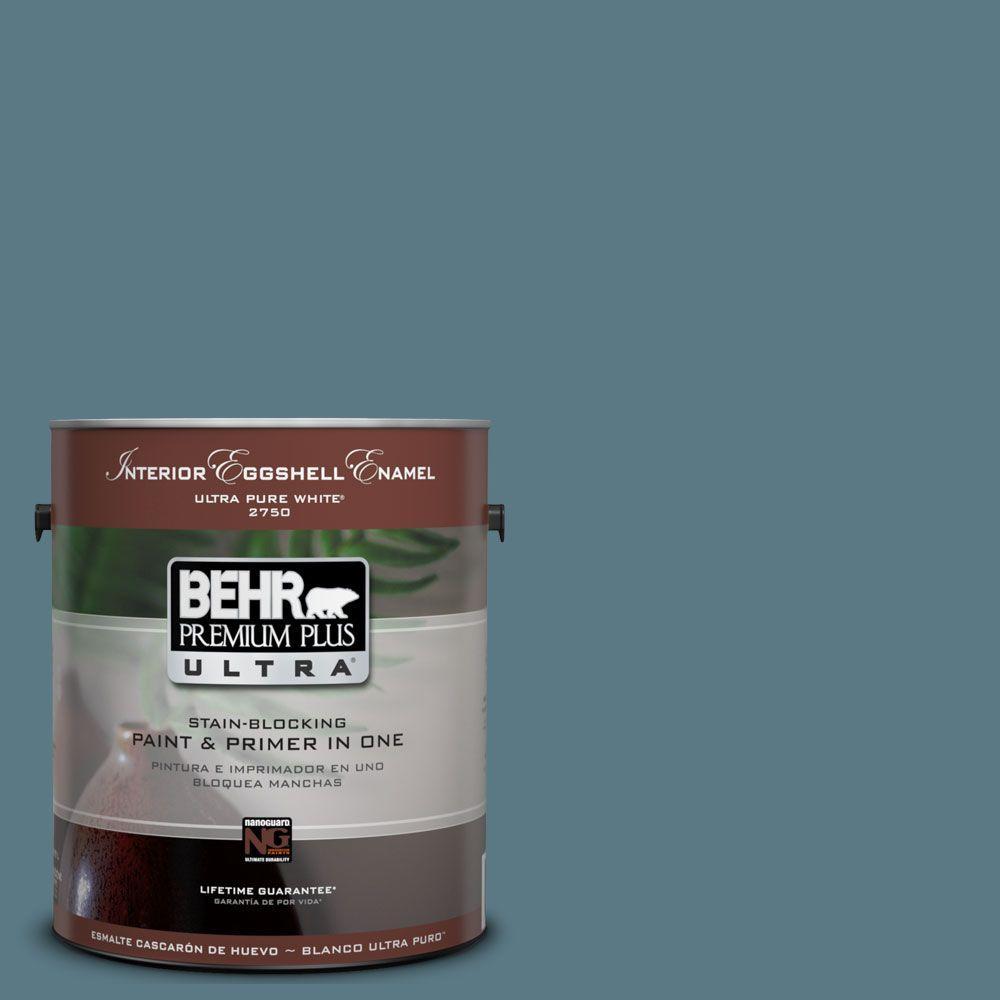BEHR Premium Plus Ultra 1-Gal. #UL230-20 Catalina Coast Interior Eggshell Enamel Paint