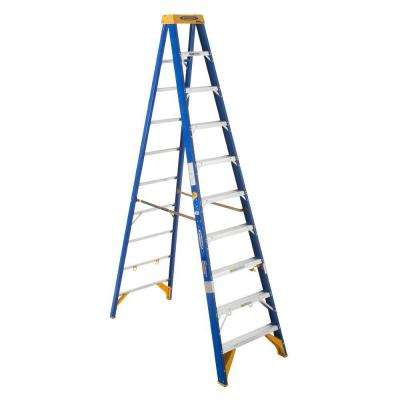 10 ft. Fiberglass Electricians JobStation Step Ladder with 375 lb. Load Capacity Type IAA Duty Rating