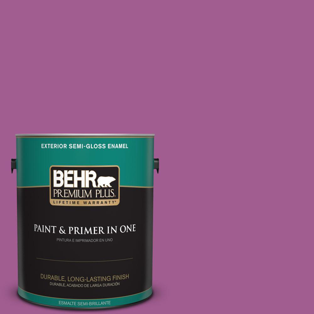 1-gal. #P110-6 Wild Berry Semi-Gloss Enamel Exterior Paint