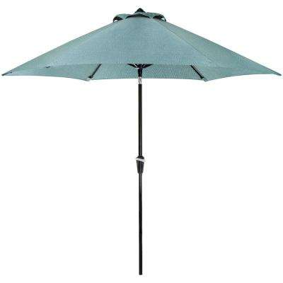 Lavallette 9 ft. Aluminum Tilt Patio Umbrella in Ocean Blue Olefin