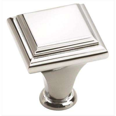 Manor 1 in (25 mm) Length Polished Chrome Cabinet Knob