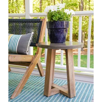 Athens Cement Outdoor Side Table