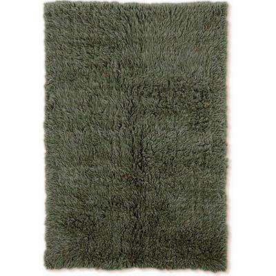 New Flokati Olive 2 ft. x 9 ft. Area Rug