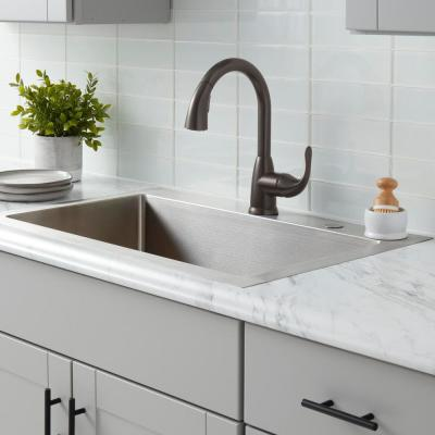 Dylan Single-Handle Pull-Down Kitchen Faucet with TurboSpray and FastMount in Bronze