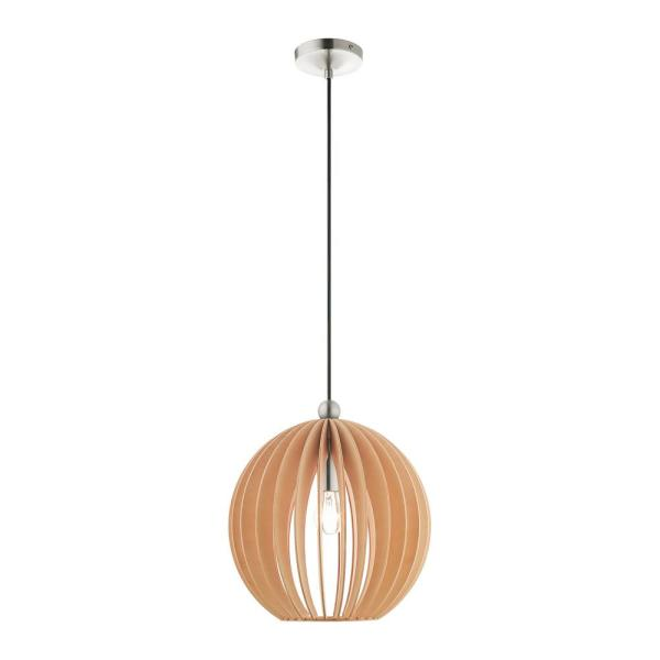 Pendants 1 Light Brushed Nickel Pendant