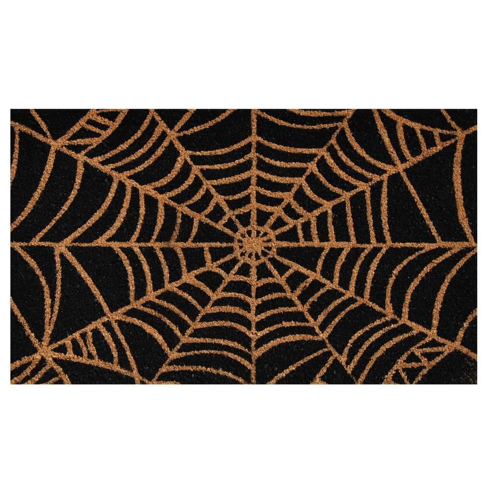 Scary Web 17 in. x 29 in. Coir Door Mat