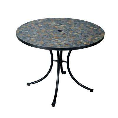 Stone Harbor 51 in. Round Slate Tile Top Patio Dining Table