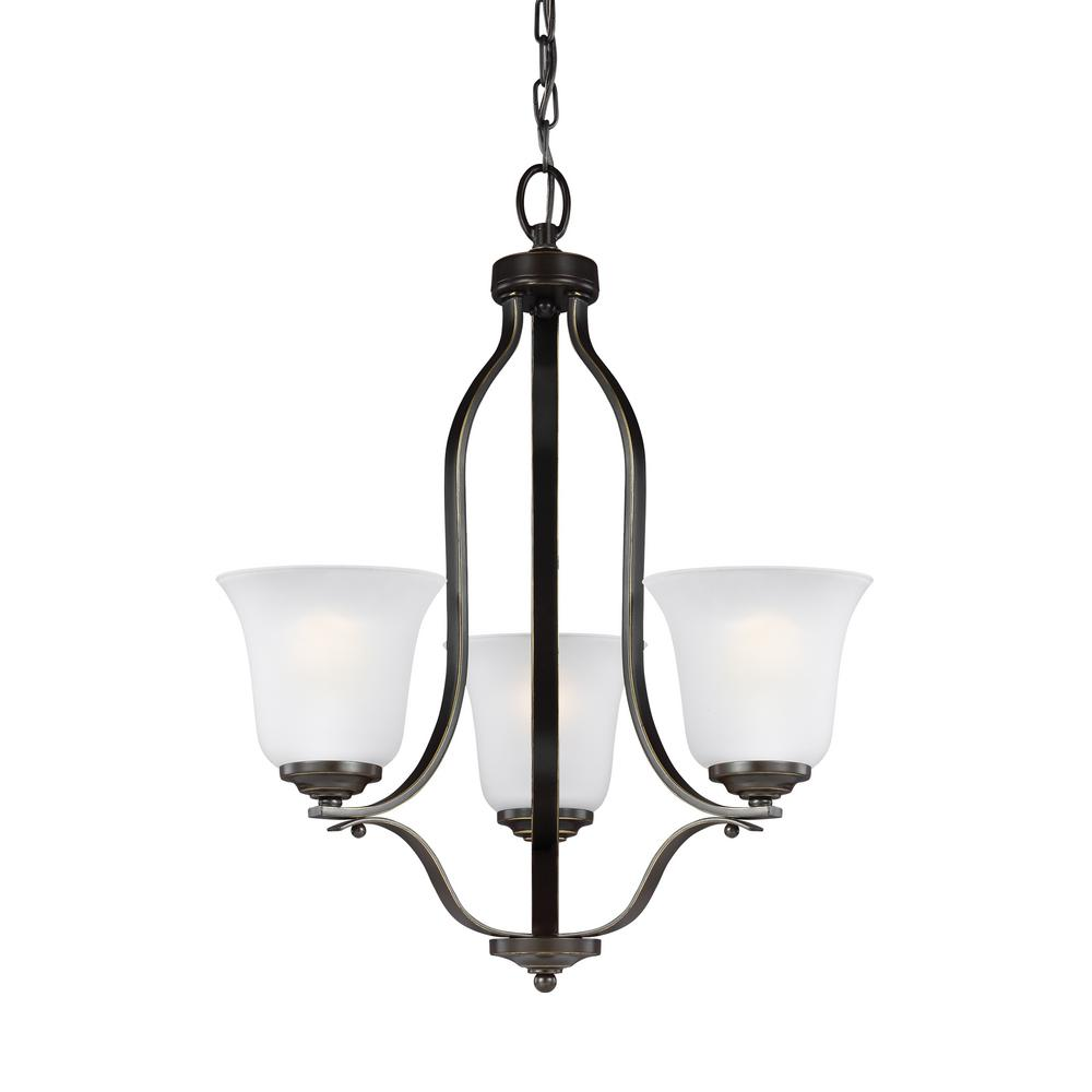 Sea Gull Lighting Emmons 3-Light Heirloom Bronze Chandelier