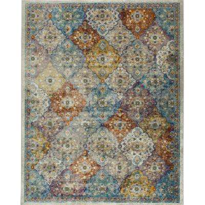 Parlin Ivory/Multi 5 ft. x 7 ft. Indoor Area Rug
