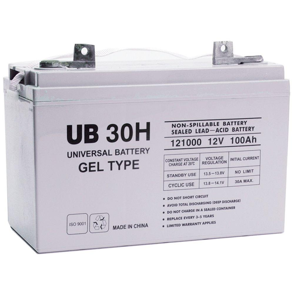 upg sla 12 volt fl2 terminal battery ub 30h gel the home depot. Black Bedroom Furniture Sets. Home Design Ideas