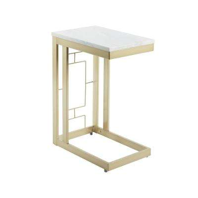 Metal Double Square C Table with Square  Accent