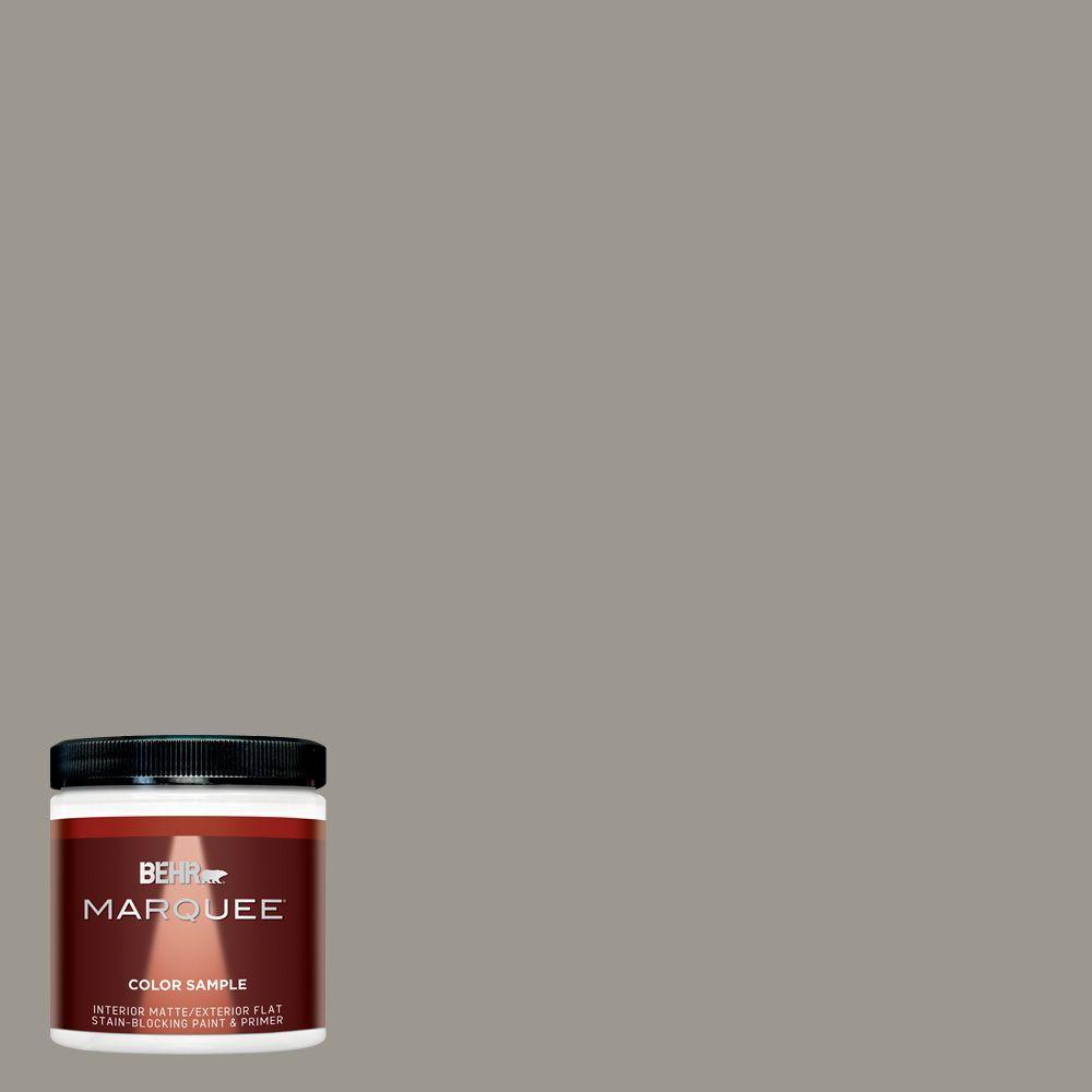 Behr Marquee 8 Oz T18 19 Quiet Time Matte Interior Exterior Paint And Primer Sample Mq30016