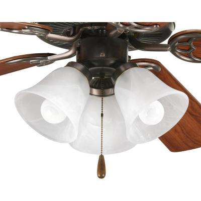 Fan Light Kits Collection 3-Light Antique Bronze Ceiling Fan Light Kit