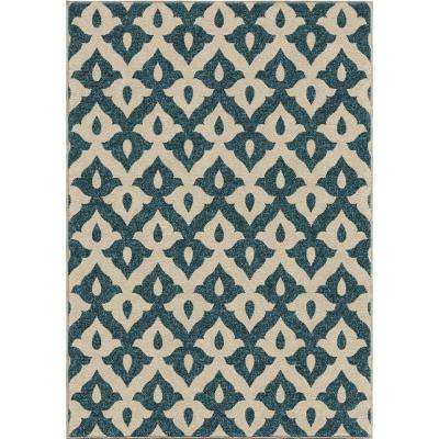 Family Crest Blue 8 ft. x 11 ft. Indoor/Outdoor Area Rug