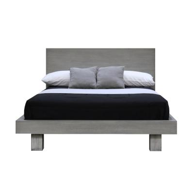 Fusion Driftwood King Headboard Platform Bed
