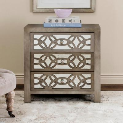 3-Drawer Gray Chest of Drawers