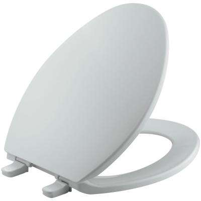 Brevia Elongated Closed Front Toilet Seat in Ice Grey