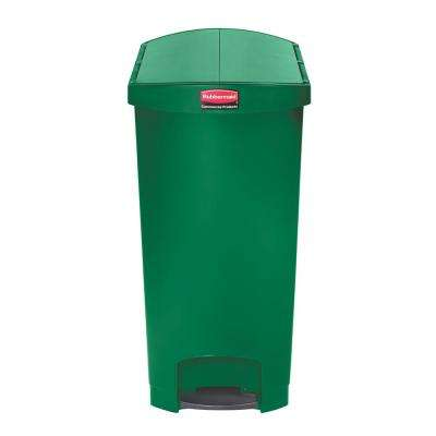Slim Jim Step-On 24 Gal. Green Plastic End Step Trash Can