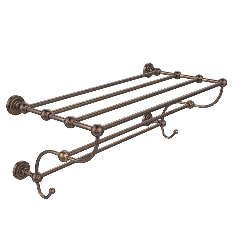 Dottingham Collection 24 in. Train Rack Towel Shelf in Venetian Bronze