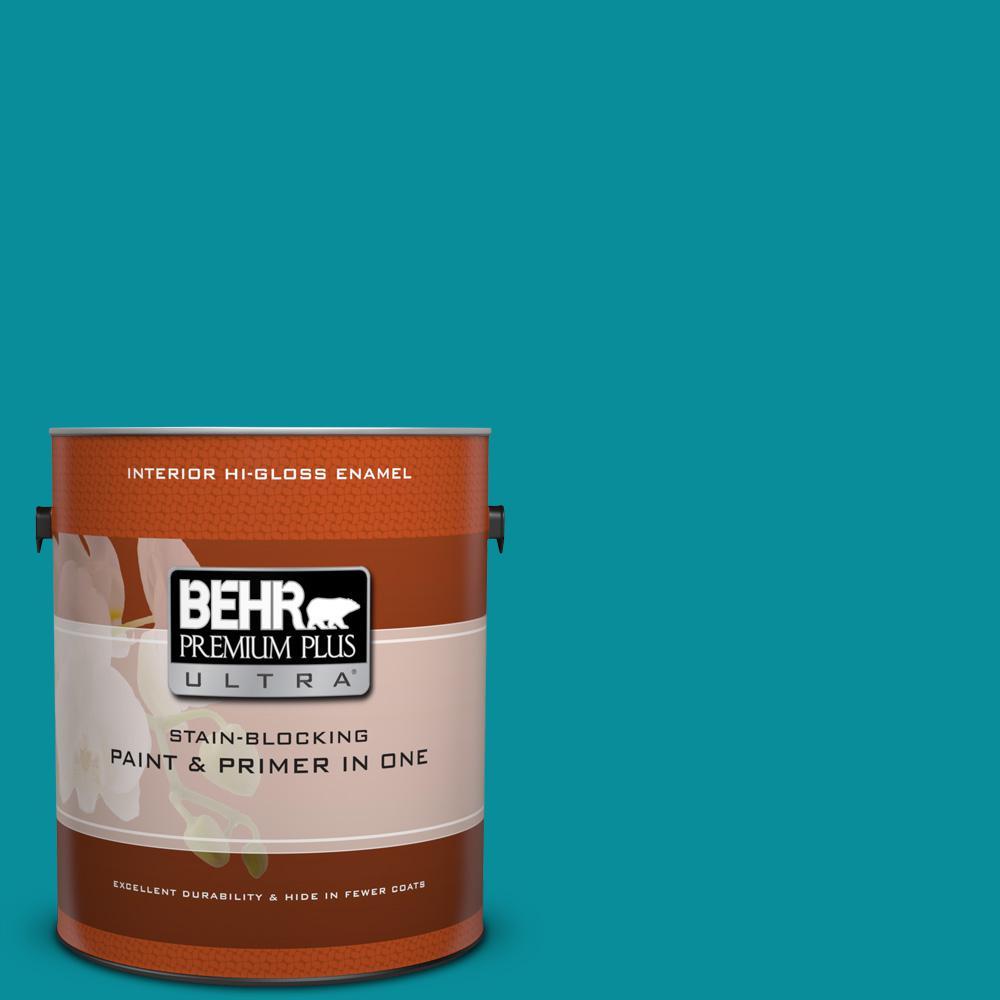 1 gal. #P470-6 Bella Vista Hi-Gloss Enamel Interior Paint