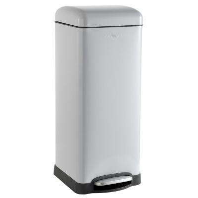 Betty Retro 8 Gal. Gray Step-Open Trash Can