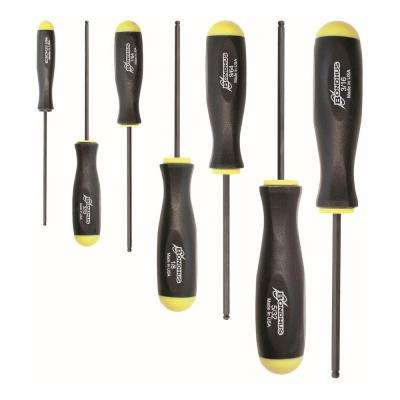 Standard Ball End Hex Drive Screwdriver Set with ProGuard Finish (7-Piece)