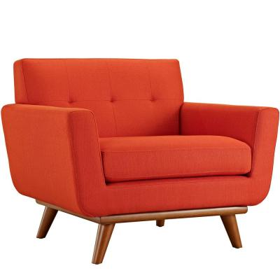 Engage Upholstered Armchair in Atomic Red