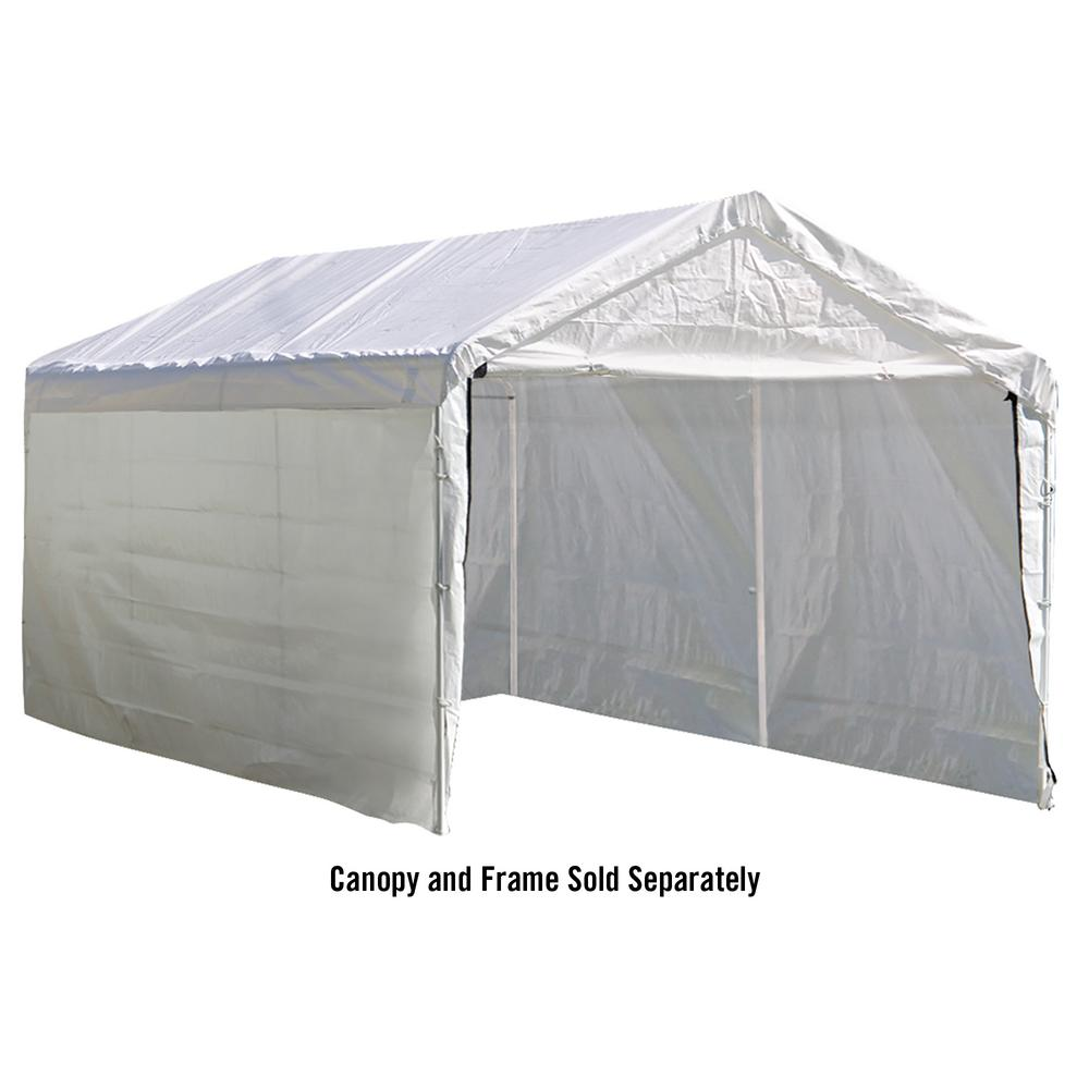 ShelterLogic 10 ft. x 20 ft. Sidewalls and Doors Kit for Max AP White  sc 1 st  The Home Depot & ShelterLogic 10 ft. x 20 ft. Sidewalls and Doors Kit for Max AP ...
