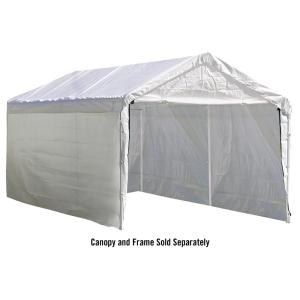 ShelterLogic 10 ft. x 20 ft. Sidewalls and Doors Kit for Max AP White Canopy by ShelterLogic