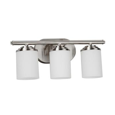Vernon 17.5 in. 3-Light Satin Nickel Bath Light