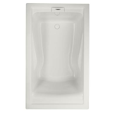 EverClean 5 ft. x 36 in. Soaking Tub with Reversible Drain in White