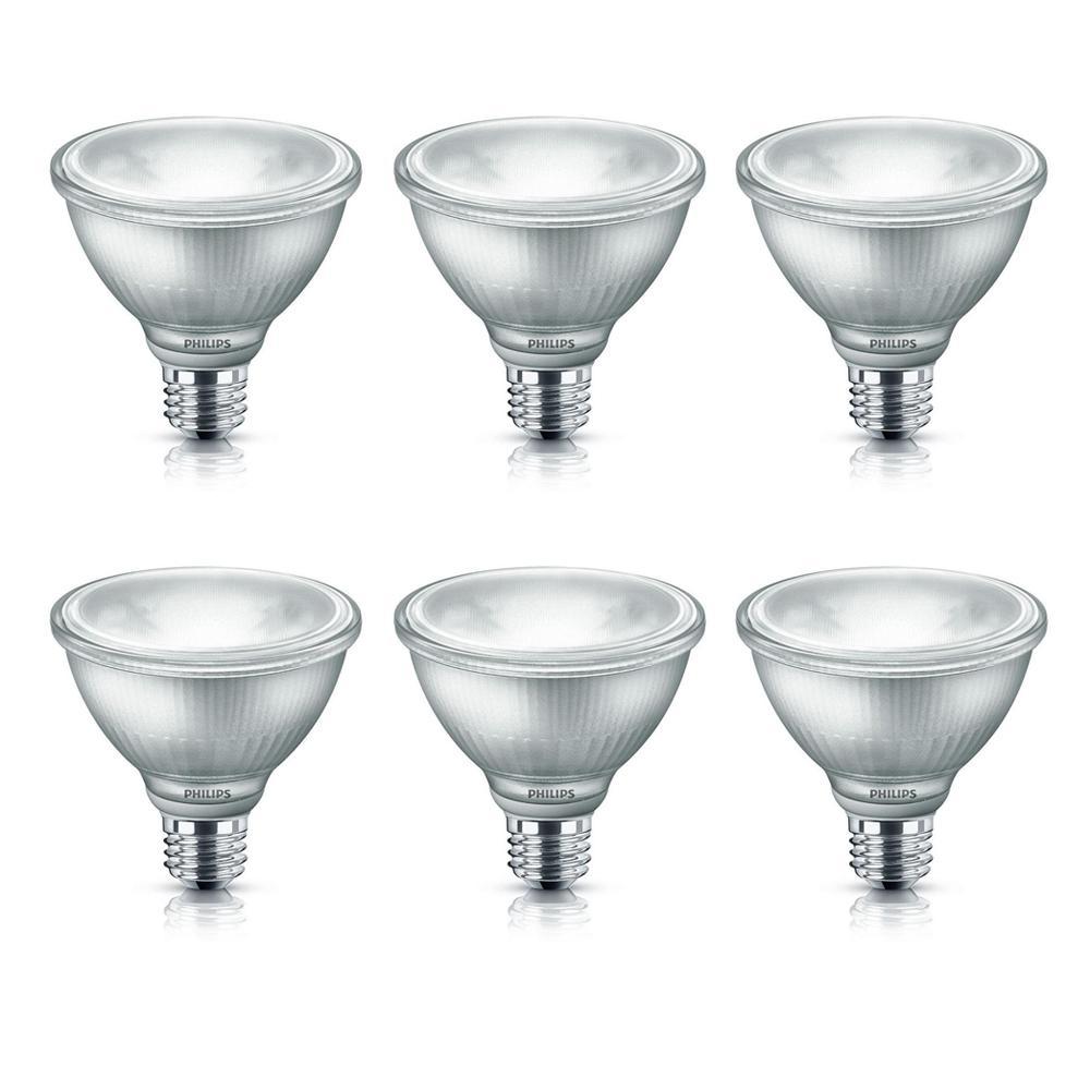 75-Watt Equivalent PAR30S Dimmable LED Glass Bright White (6-Pack)