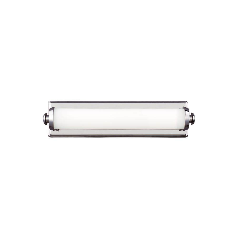 Feiss Edgebrook 18 in. W. Polished Nickel Integrated LED Vanity Light Bar