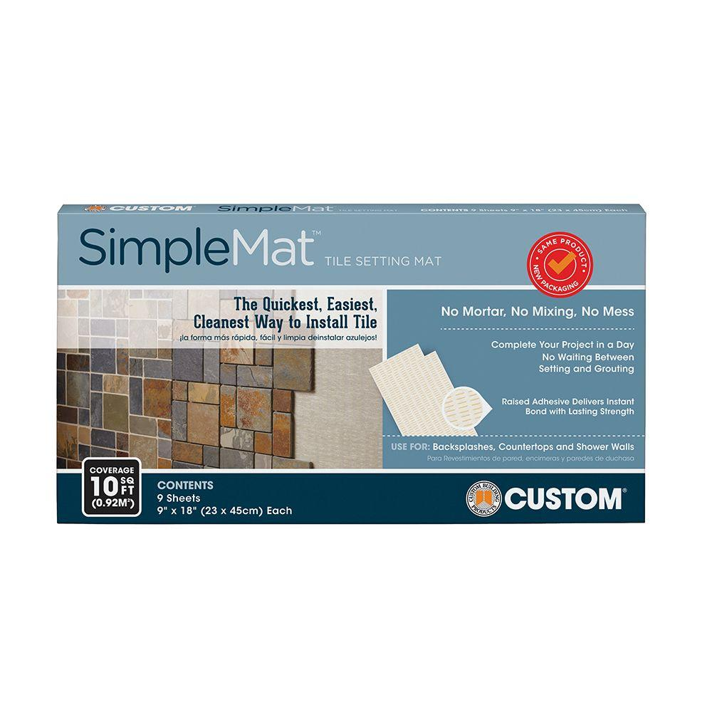 Custom Building Products SimpleMat 10 sq. ft. Tile Setting Mat ...