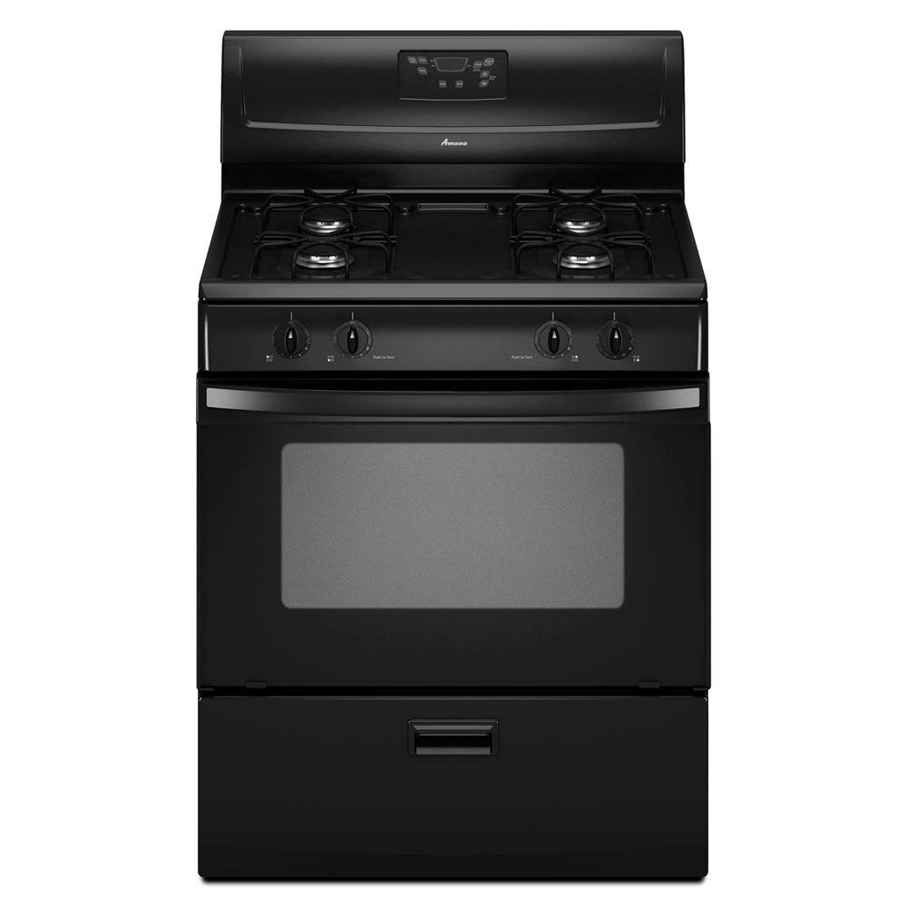 Amana 4.4 cu. ft. Gas Range in Black-DISCONTINUED