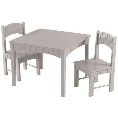Landyn 3-Piece Gray Table and Chair Set