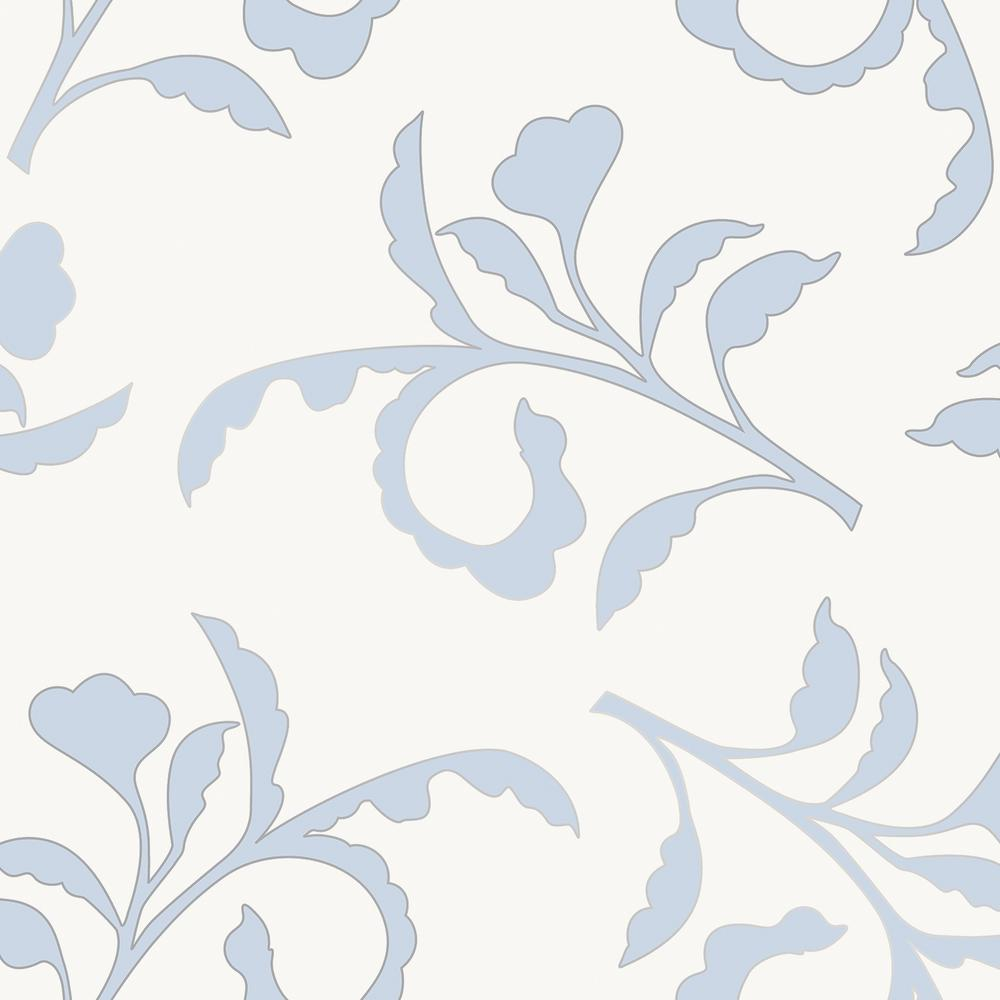 Tempaper Cynthia Rowley For Branch Light Blue And Ivory Self Adhesive Removable Wallpaper
