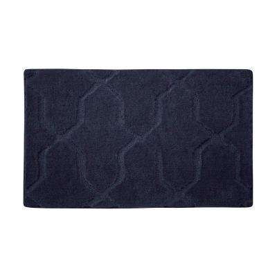 Pearl Drona Lake Blue 17 in. x 24 in. Bath Mat