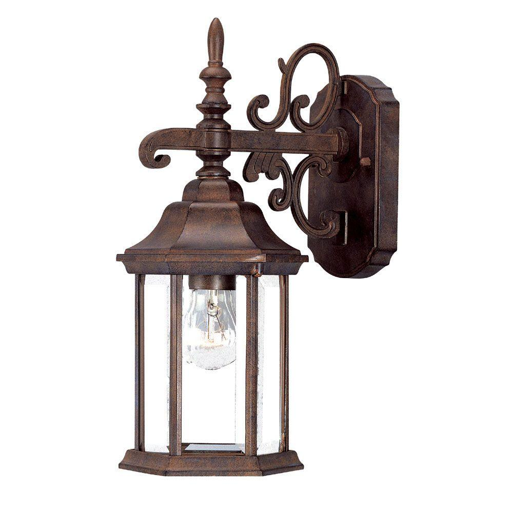 Acclaim Lighting Madison Collection 1-Light Burled Walnut Outdoor Wall-Mount Light Fixture