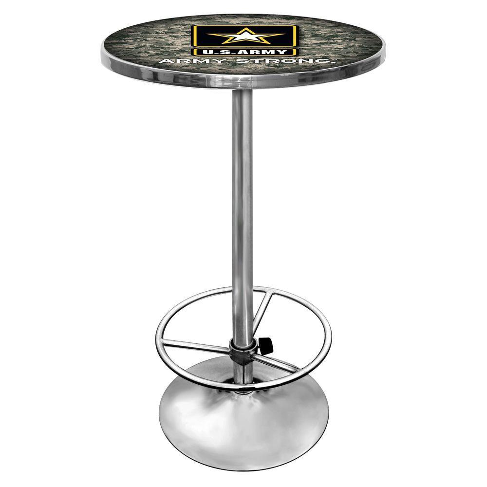 U.S. Army Chrome Pub/Bar Table