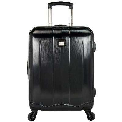 Piazza 22 in. Expandable Smart Spinner Luggage, Black