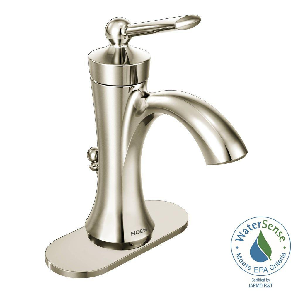 faucet nickel fluent faucets polished single sink control standard american bathroom
