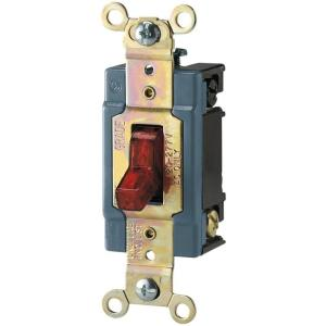Eaton 15 Amp 120/277-Volt Industrial Grade Toggle Switch with Pilot