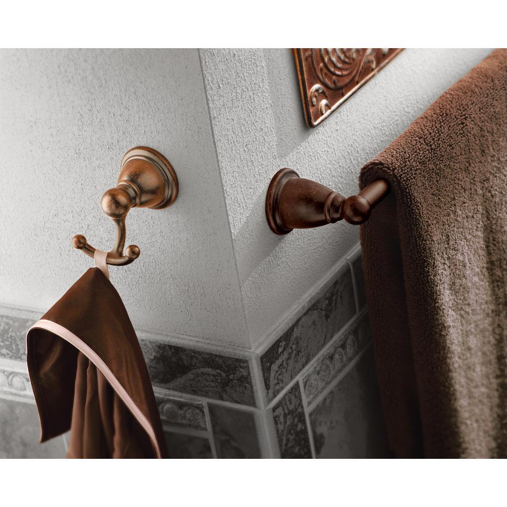 Brantford Double Robe Hook in Oil Rubbed Bronze