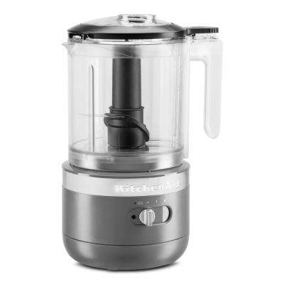 Cordless 5-Cup Charcoal Grey Food Chopper