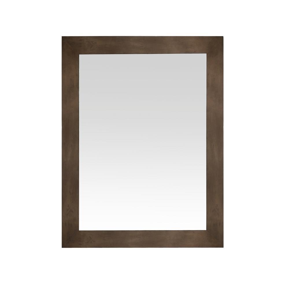 Sonoma 36 in. x 28 in. Framed Wall Mount Mirror in Almond Latte